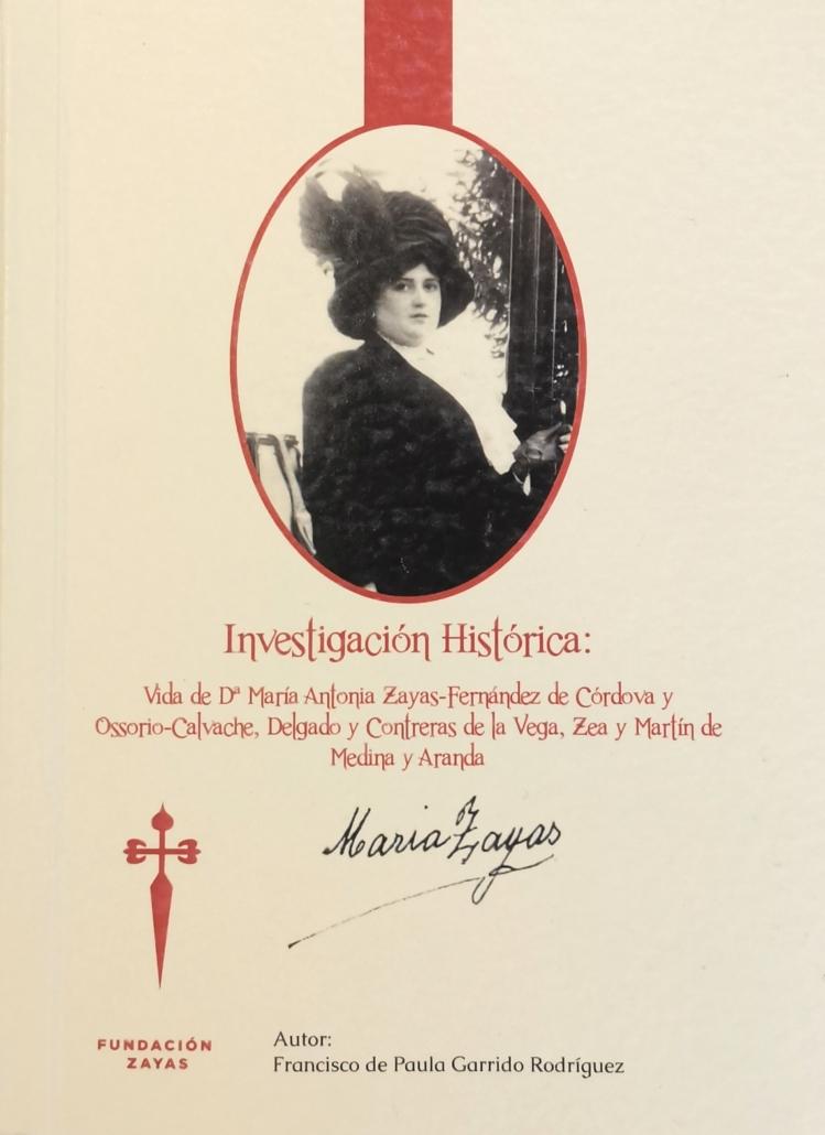 Portada de la Investigación Histórica acerca de la vida de María Zayas.