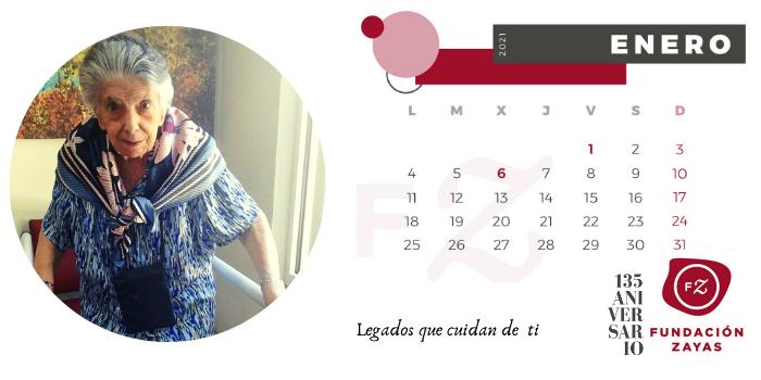 Calendario Fundación Zayas. Enero 2021