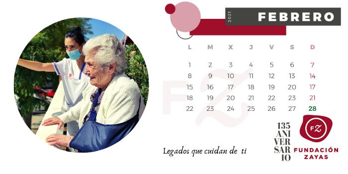 Febrero. Calendario Fundación Zayas.
